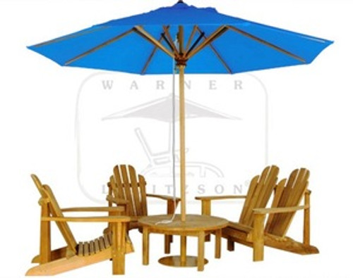 GREENBROOK ADIRONDACK TEAK SET (4 seat)