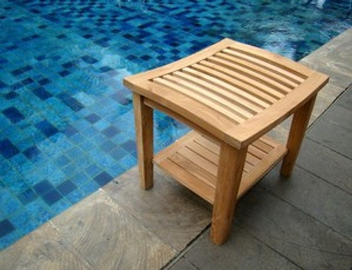 TEAK ROMA SHOWER STOOL