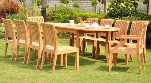 PACIFICA LARGE TEAK DINING SET