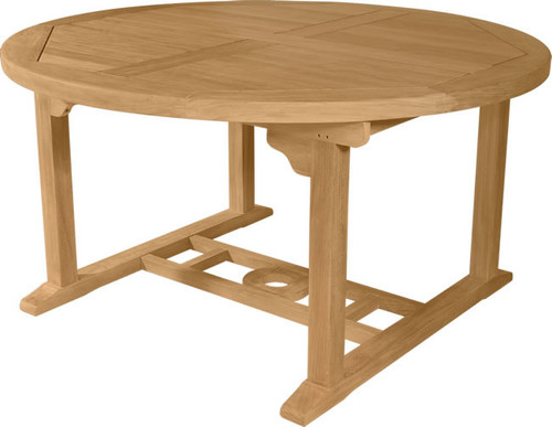 Extra large round teak table with thick top