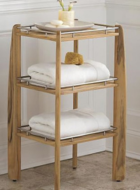 TEAK SHOWER RACK