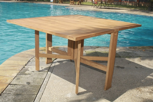 Large Teak Square Folding Table