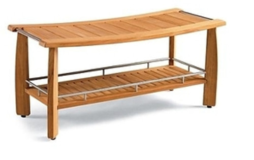 TEAK LONG SHOWER BENCH