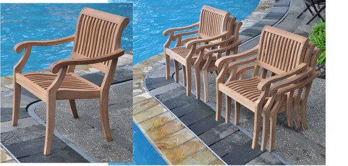 SUTTER STACKING ARM CHAIR