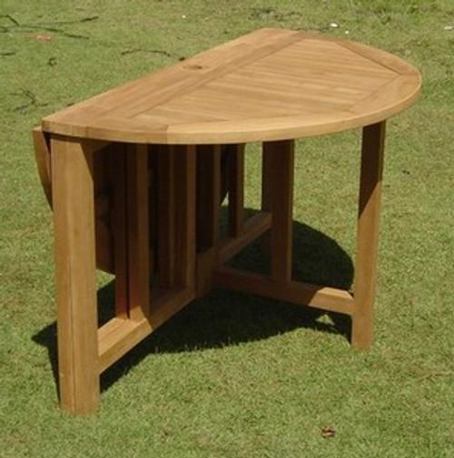 Round Teak Gateleg Table