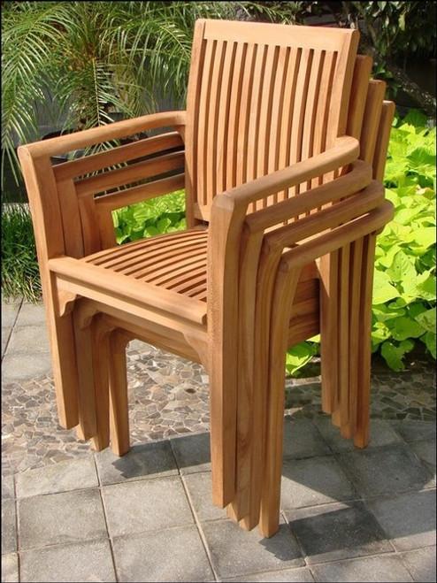 The Teak Rio Stacking Chair