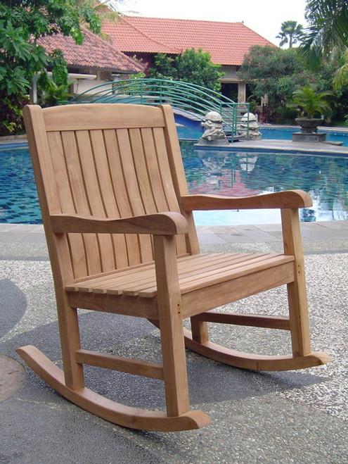 The Teak Rockford Rocking Chair