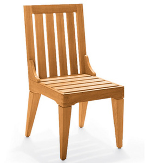 Teak Morea Armless Side Chair