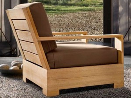 Modern Teak Club Lounge Chair