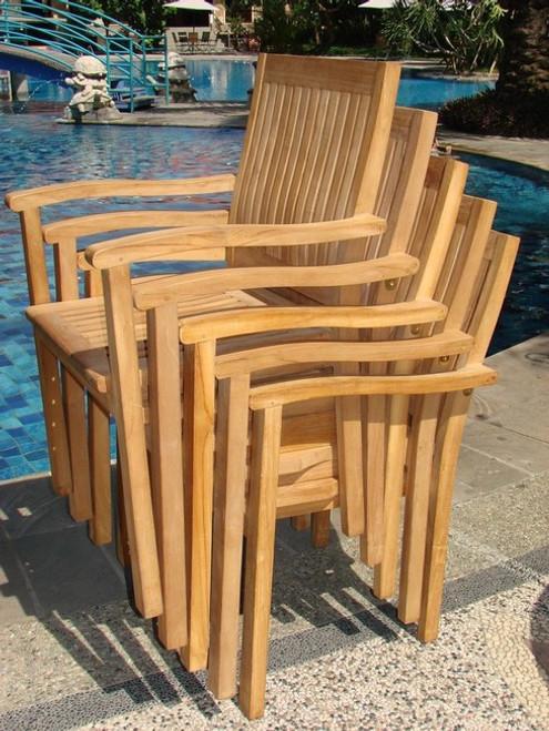 Lacovia Teak Stacking Chairs
