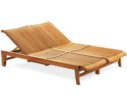 Kuta Teak Double Chaise Lounger
