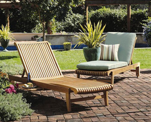 two teak loungers with Kuta Styling