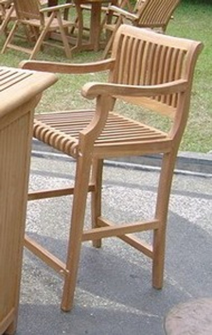 Kuta Bar Arm Chair (front view)