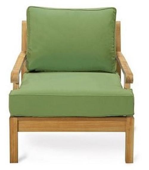 Teak Kodra Club Chair front view