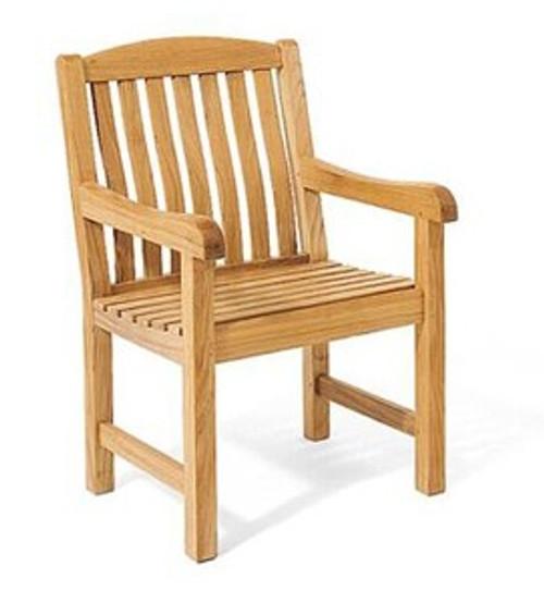 Rugged Teak Kingston Arm Chair