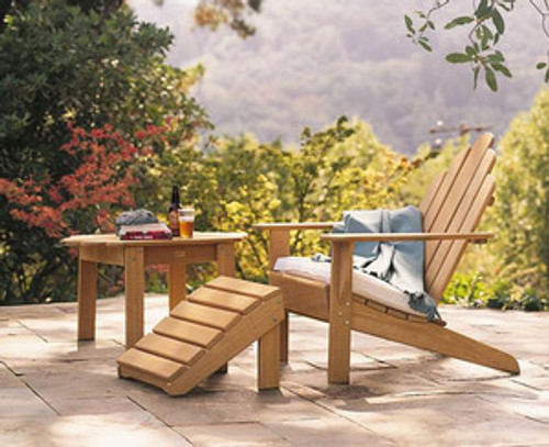Teak Adirondack Chair with Footstool