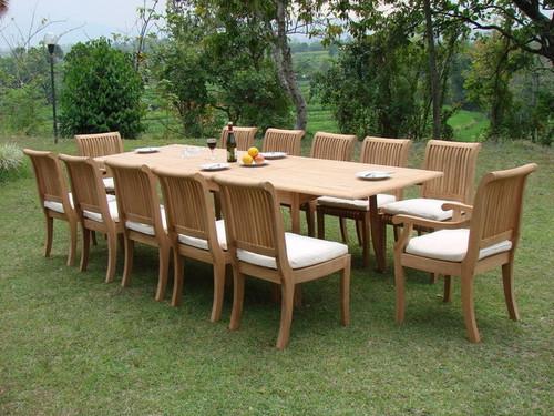 KUTA LARGE TEAK DINING SET - III