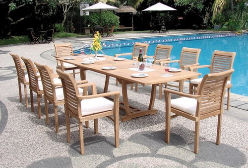 Teak Ocean Chairs and Rectangle Table