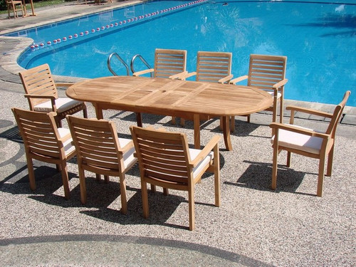 CYPRESS TEAK DINING SET - I