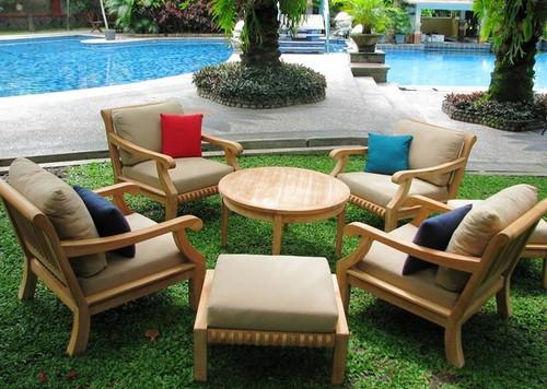 KUTA teak club chair set.