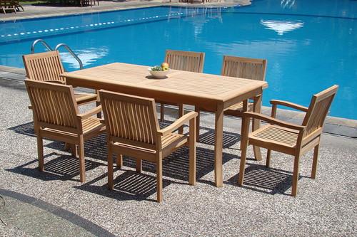 7 piece teak deck furniture