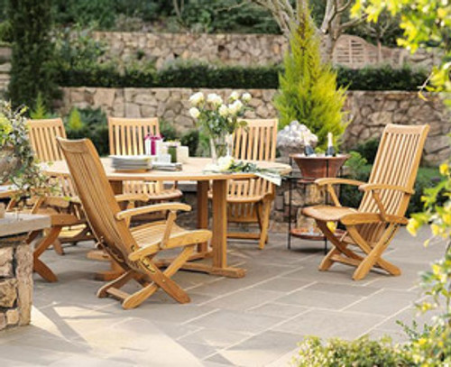 unusual teak outdoor dining set