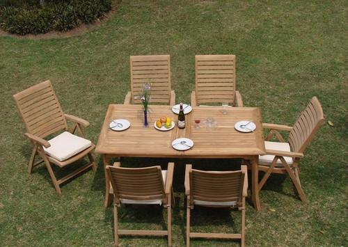 FONTAINE TEAK DINING SET (6 seat) - IV