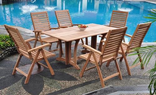 teak dining set is all foldable