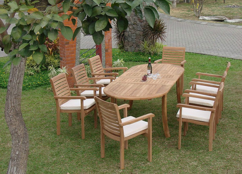 CYPRESS TEAK DINING SET (6 seat) - II