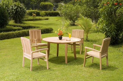 4 chair teak set