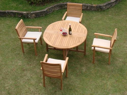 5pc teak outdoor set