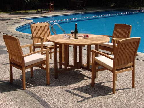 4 seat teak dining set