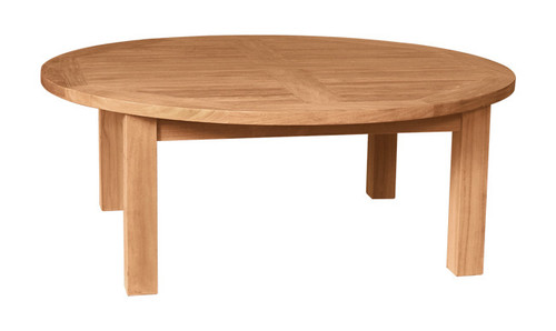 TEAK ROUND COFFEE TABLE 43 - out of stock