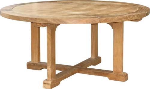 medium size round teak coffee table