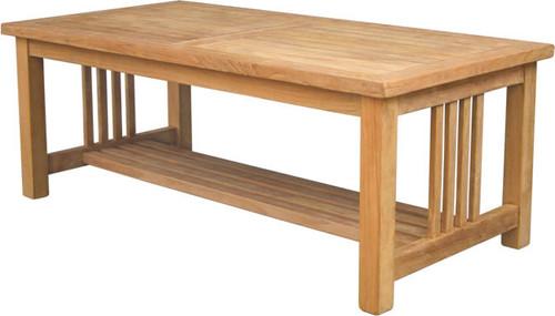 teak tiered mission table