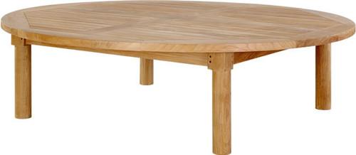 large round teak coffee table
