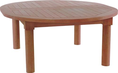 large oval teak coffee table