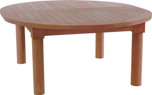 large oval teak coffee table