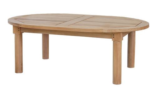 oval teak coffee table