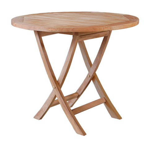 medium size teak folding table