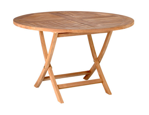 large teak folding table
