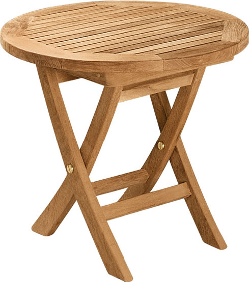 Round Folding Side Table 20 Woodjoyteak Com