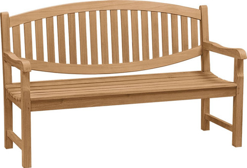 bowed back bench