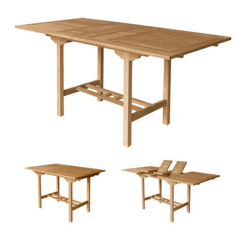Extra large rectangular teak pub table.