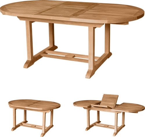 OVAL EXTENSION TABLE 79 - X Thick Top