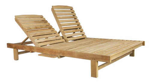 High quality commercial grade A teak chaise lounger.