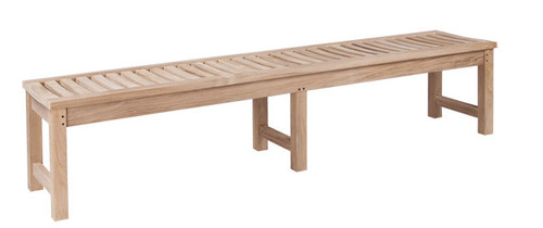 extra long teak backless bench