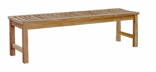 "Avalon teak backless bench 63"" long"