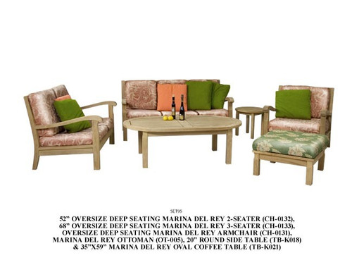 teak sofa set 6pc