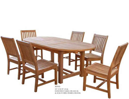 teak set for patios